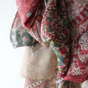 Raspberry & Emerald scarf